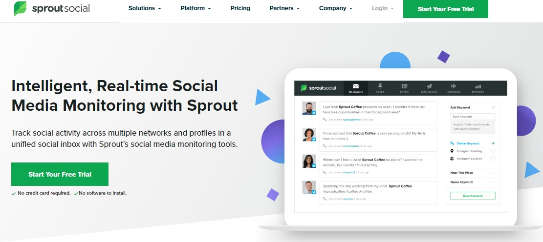 Top 35 Social Media Monitoring Tools for 2019-Sprout Social