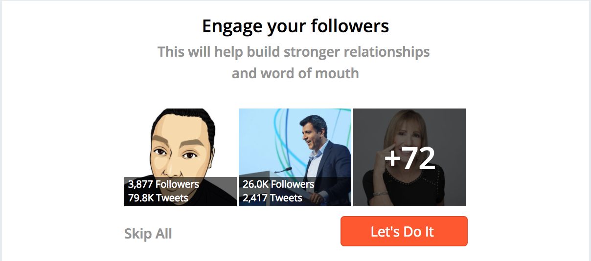 Engage Followers Hootsuite Hubspot Bufferapp Marketing Cloud