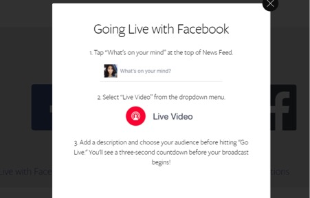 Go Facebook Live Screen