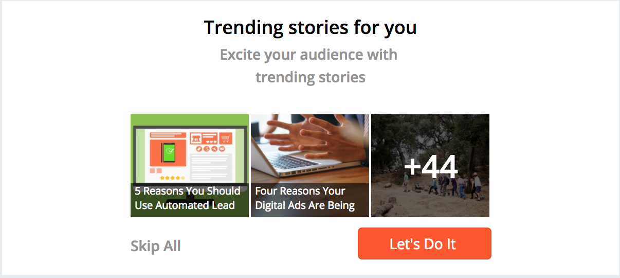 Post Trending Stories - Increase Twitter Followers Hootsuite Hubspot Buffer Social Cloud Marketing Cloud